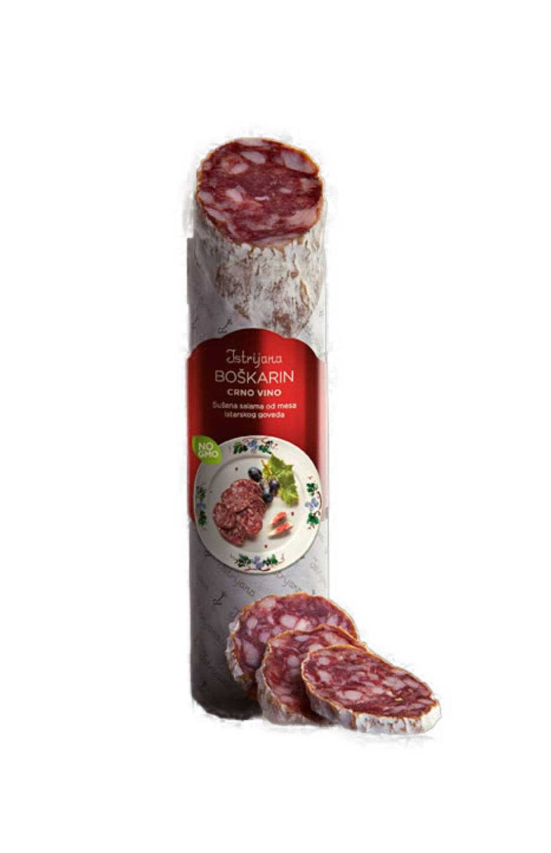 Boškarin Crno Vino Teran Istarska Premium Salama 200g. Azrri Adria Klik Brza Dostava