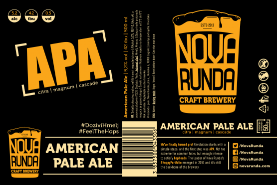 American Pale Ale 0,5l Nova runda Adria Klik Fast Delivery