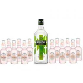 Promo Pack Gin Greenalls 0,7l + 12pcs. Fentimans Pink Grapefruit Tonic 0,2l | Adria Klik Fastest Delivery
