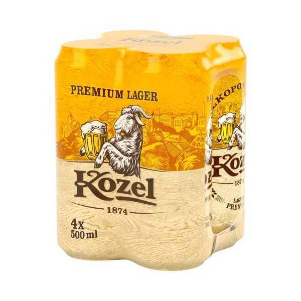 | G Kozel Premium Lager Limenka 0,5l x 4 komada | Adria Klik Najbrža dostava namirnica, vinam craft piva i delicija! roceries, Croatian Wines, Craft Beers, Organic, Bio Eko, Gourmet