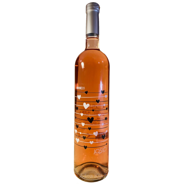 Rose 0,75l Josić Adria Klik Najbrža dostava Namirnica, Vina, Craft piva, Delicija, Organsko, Eko, Bio, ekskluzivan izbor domaćih vinara!