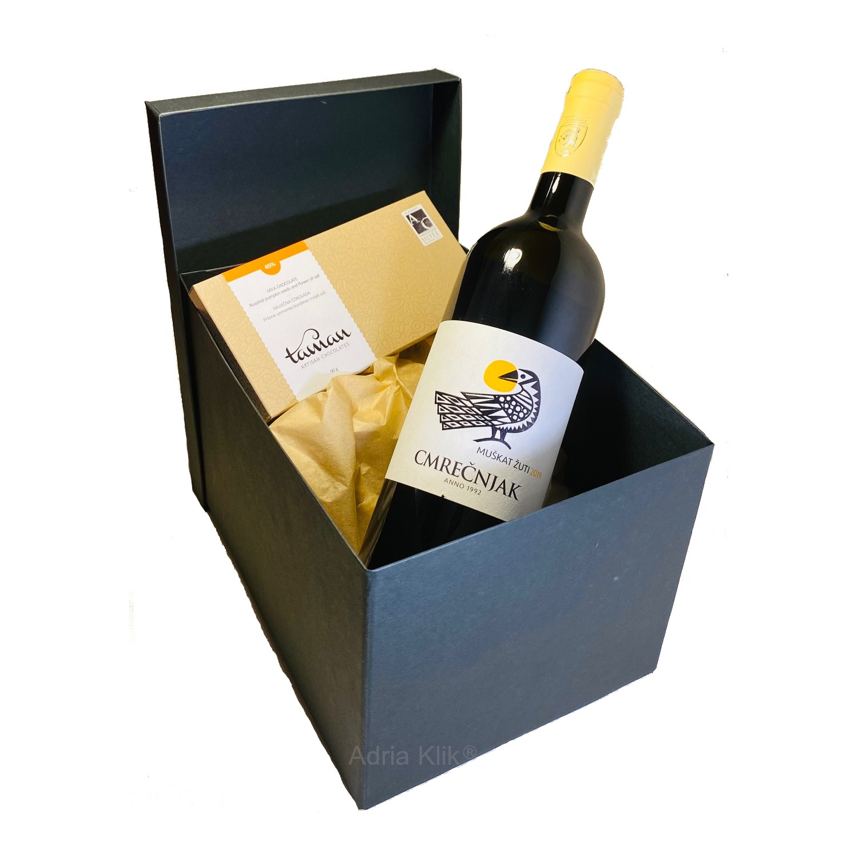 domaći Poklon paket Taman Artisan Chocolates - Tamna čokolada Muškat Žuti 0,75l Cmrečnjak - Adria-Klik.com naruči dostavu premium proizvoda