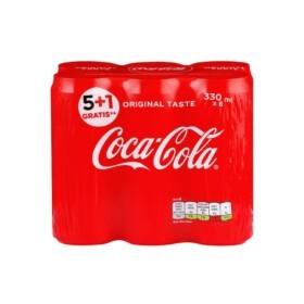 Coca-Cola 0,33l 330ml Limenka 5+1 Gratis Superbrza Dostava ORIGINAL TASTE Coca-Cola za Hrvatsko tržište! Superbrza Dostava do vrata. Naruči